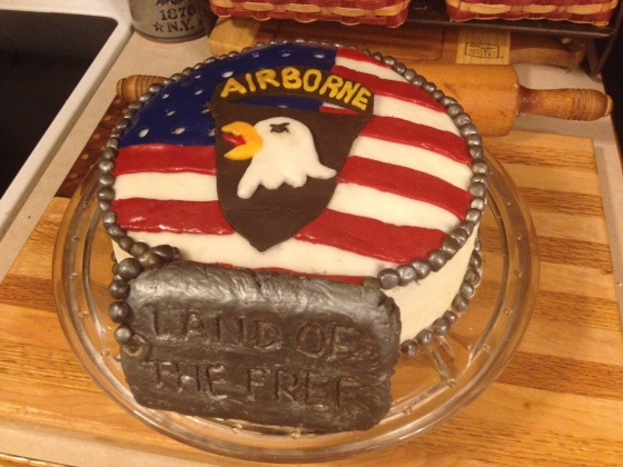 Screaming Eagle cake decorating